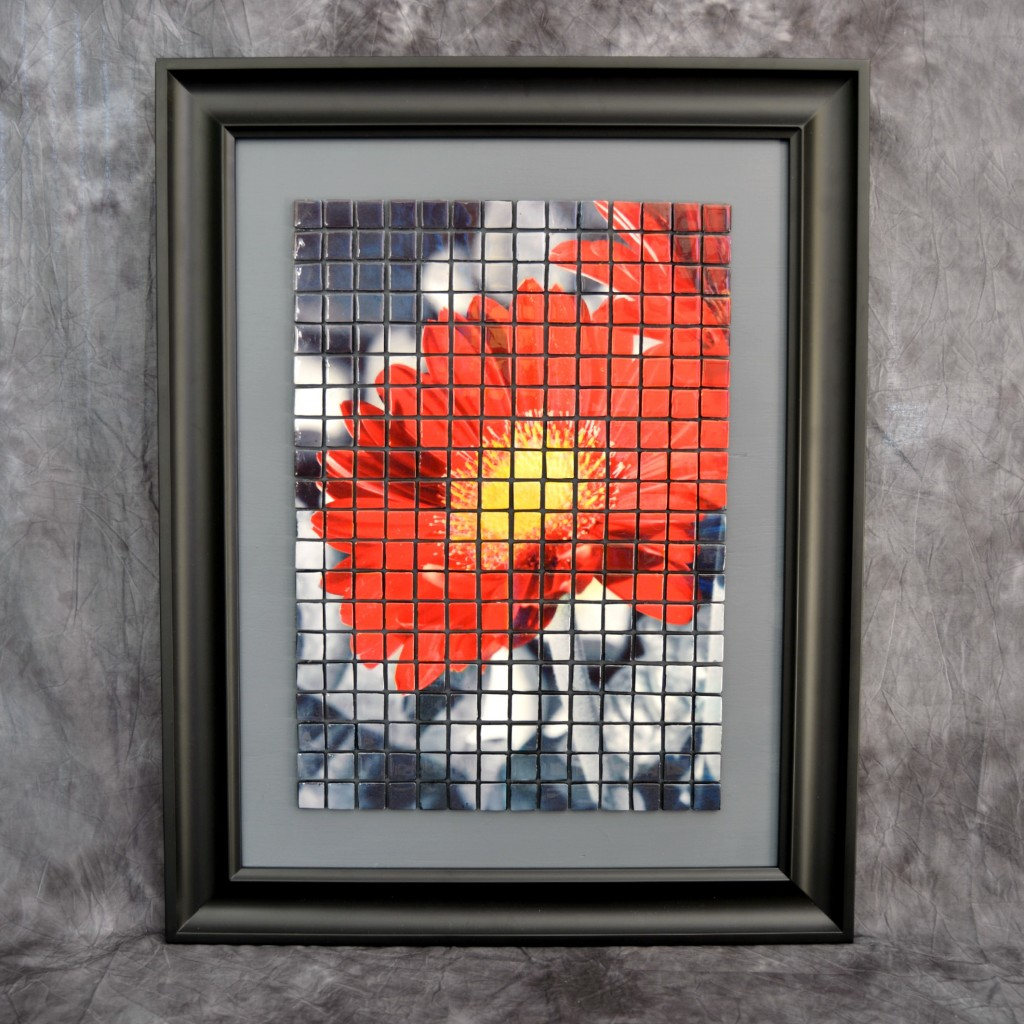 """Bloom"" Mixed Media Mosaic by Adrianne Surian"