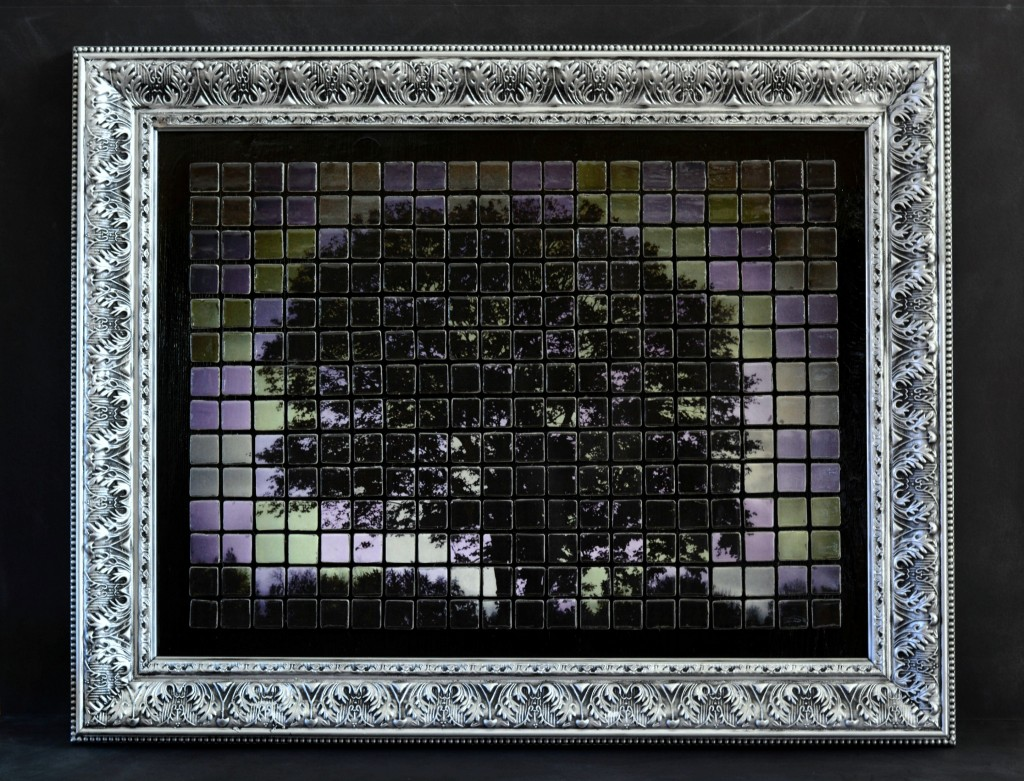 Tree at Dawn | Mixed Media Mosaic by Adrianne Surian 2014